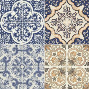 płytka podłogowa w stylu patchwork